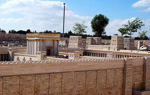 The Temple Mount and the Antonia Fortress. Photo by F. Jenkins.