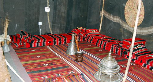 Authentic Bedouin Tent at Horn Museum. Photo by Ferrell Jenkins.