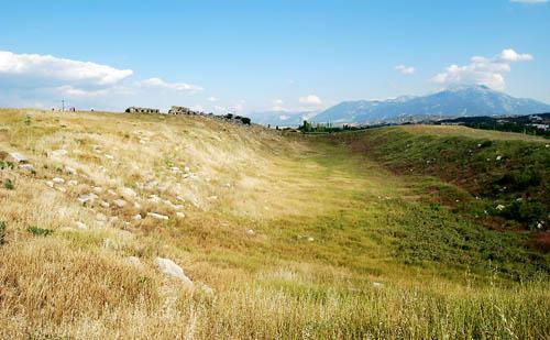 The stadium at Laodicea. Photo by Ferrell Jenkins.
