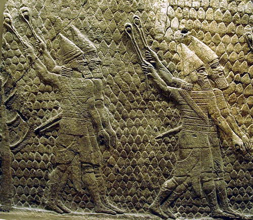 Assyrian slingers at Lachish. Photo by Ferrell Jenkins.