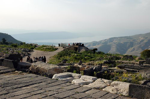 View of Sea of Galilee from Umm Queis. Photo by Ferrell Jenkins.