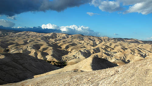 The wilderness of Judea. Looking west up toward Jerusalem. Photo by Ferrell Jenkins.