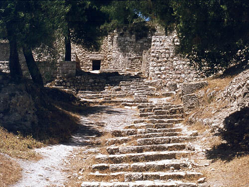 First century steps leading to the Upper City. Photo by Ferrell Jenkins.