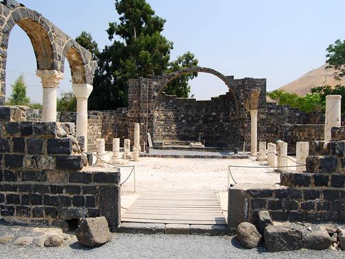 The basilica at Kursi. Photo by Ferrell Jenkins.