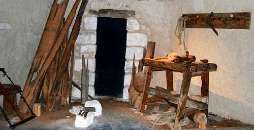 Carpenter shop at The Nazareth Village. Photo by Ferrell Jenkins.