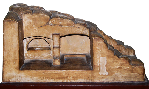 Model of the tomb in the Church of the Holy Sepulchre. Photo by F. Jenkins.