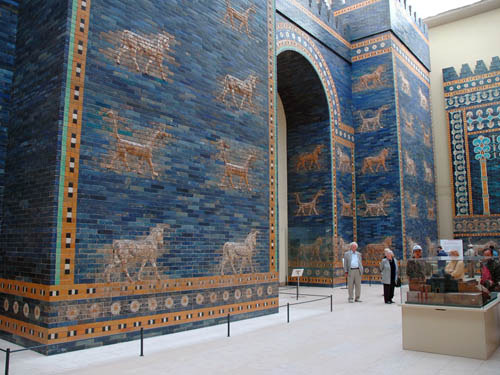 Ishtar Gate in the Pergamum Museum of Berlin. Photo by Ferrell Jenkins.