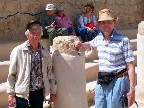 Robert Jackson and Ferrell Jenkins at Masada in 2000.