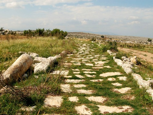 Roman Road north of Tarsus. Note the fallen milestone. Photo by Ferrell Jenkins.