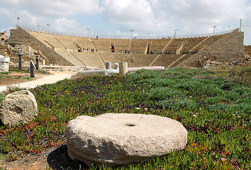 The restored theater at Caesarea Maritima. Photo by Ferrell Jenkins.