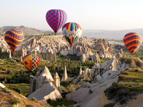Gliding gently over Cappadocia. Photo by Ferrell Jenkins.