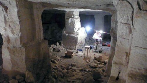 Jordan Valley cave. Photo courtesy of University of Haifa.