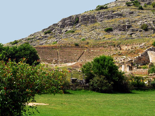 The theater at Philippi. Built in 4th century B.C. Photo by Ferrell Jenkins.