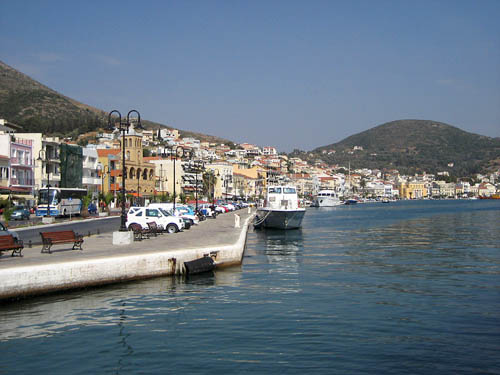 The port of Samos on the island of Samos. Photo by Ferrell Jenkins.