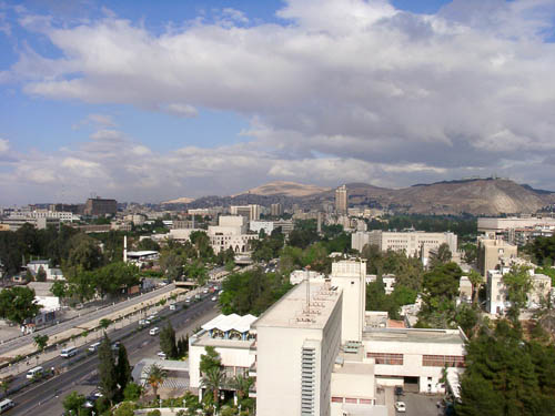 View of Damascus looking west. Photo by Ferrell Jenkins 2002.