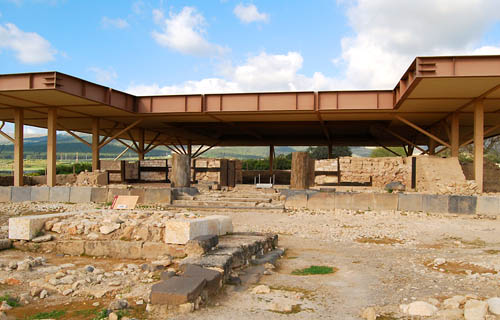 The Late Bronze Canaanite Palace at Hazor. Photo by Ferrell Jenkins.
