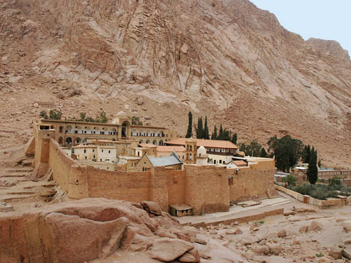 St. Catherine's Monastery at Jebel Musa. Photo by Ferrell Jenkins.