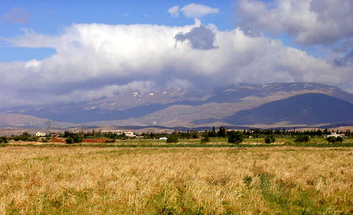 View of Mount Hermon from the East. Photo by Ferrell Jenkins 2002.