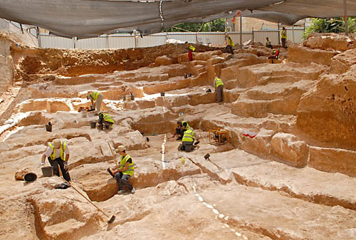 First century B.C. quarry on Shmuel HaNavi Street. Photo: Assaf Peretz, courtesy IAA.