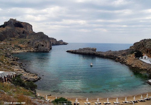 St. Paul's Bay at Lindos, Rhodes. Photo by Ferrell Jenkins.