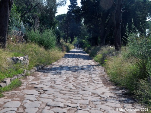Paul traveled the Ancient Appian Way to get to Rome. Photo by Ferrell Jenkins.