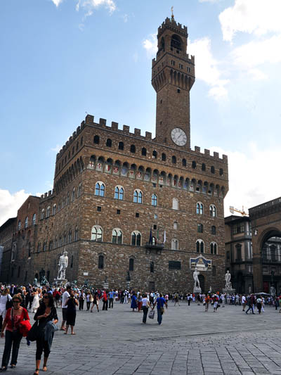 Piazza della Signoria in Florence, Italy. Photo by Ferrell Jenkins.