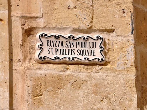 St. Publius Square in Mdina. Photo by Ferrell Jenkins.