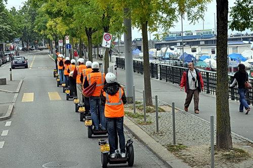 Segway tour in Lucerne, Switzerland. Photo by Ferrell Jenkins.