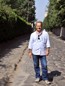 Stefano Corazza on the Appian Way