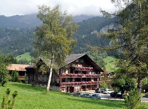 A beautiful house at Lauterbrunen. Photo by Ferrell Jenkins.