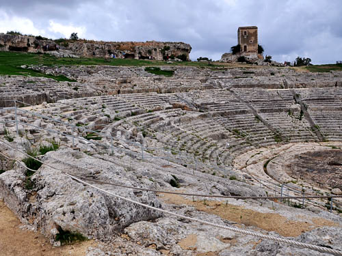The 3rd Century Greek theater at Syracuse. Photo by Ferrell Jenkins.
