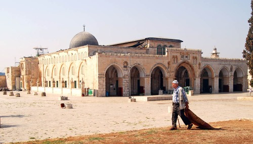Al-aksa Mosque. View toward south west. Photo by Ferrell Jenkins.