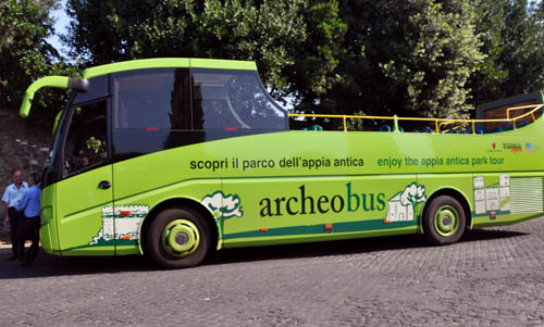 The Archeobus Tour on the Appian Way. Photo by Ferrell Jenkins.