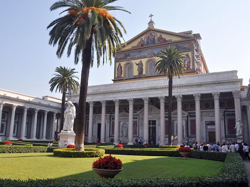 The basilica of St. Paul Outside the Walls in Rome. Photo by Ferrell Jenkins.