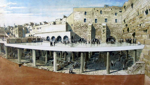 Proposed Western Wall archaeological park. Photo: Antiquities Authority.