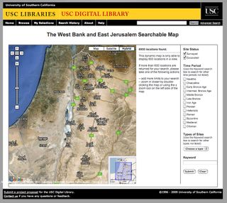 The West Bank and East Jerusalem Digital Map