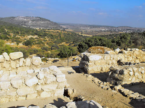 View from Khirbet Queifaya toward Azekah. Photo by Luke Chandler.