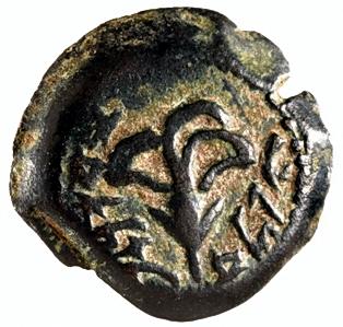 Coin of Yehonatan - Alexander Jannaeus. Photo: IAI