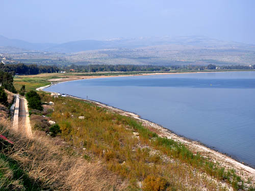 The NW area of the Sea of Galilee. Photo by Ferrell Jenkins.