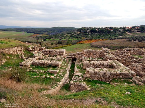 """Solomon's Gate"" at Gezer. Photo by Ferrell Jenkins."