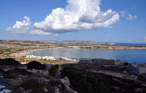 Mellieha Bay, Malta. Photo by Ferrell Jenkins.