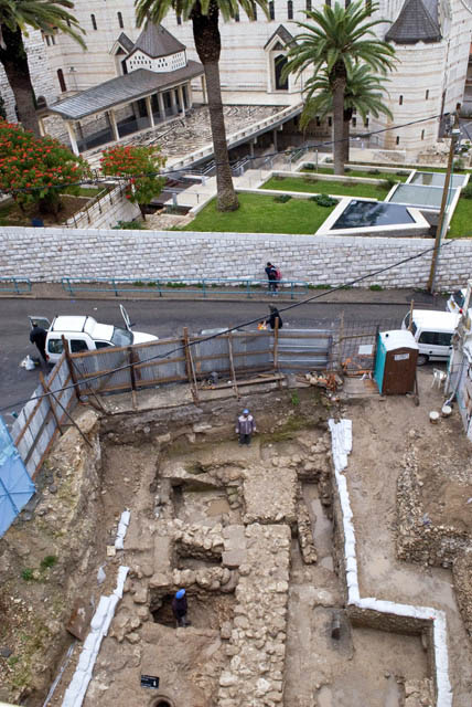 Excavation of Nazareth residence and Church of Annuciation. Photo: IAA.