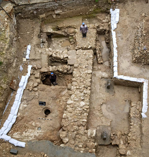 Excavation of first century Nazareth residence. Photo courtesy IAA.