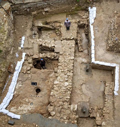Excavation of first century Nazareth residence. Photo courtesy IAA.