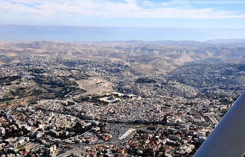 Jerusalem at 3800 feet altitude
