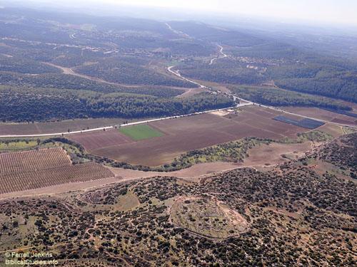 Khirbet Qeiyafa overlooking the Elah Valley. Photo by Ferrell Jenkins.