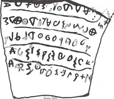 Khirbet Qeiyafa Inscription. Courtesy of the University of Haifa.