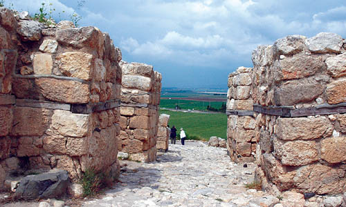Megiddo Gate with view of Jezreel Valley. Photo by Ferrell Jenkins.