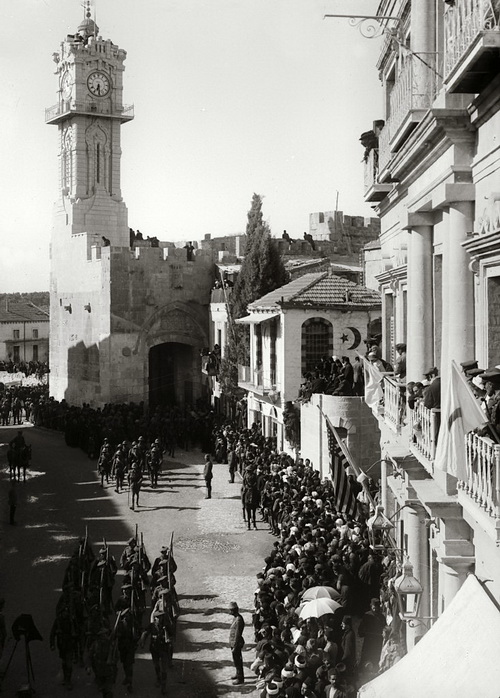 General Allenby enters Jerusalem through Jaffa Gate - 1917.