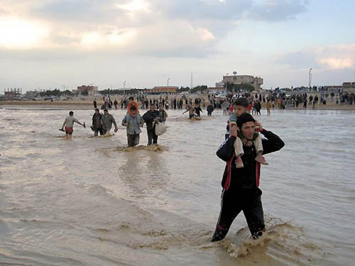 Damages caused by torrential rains in Arish. Al-Ahram weekly online.